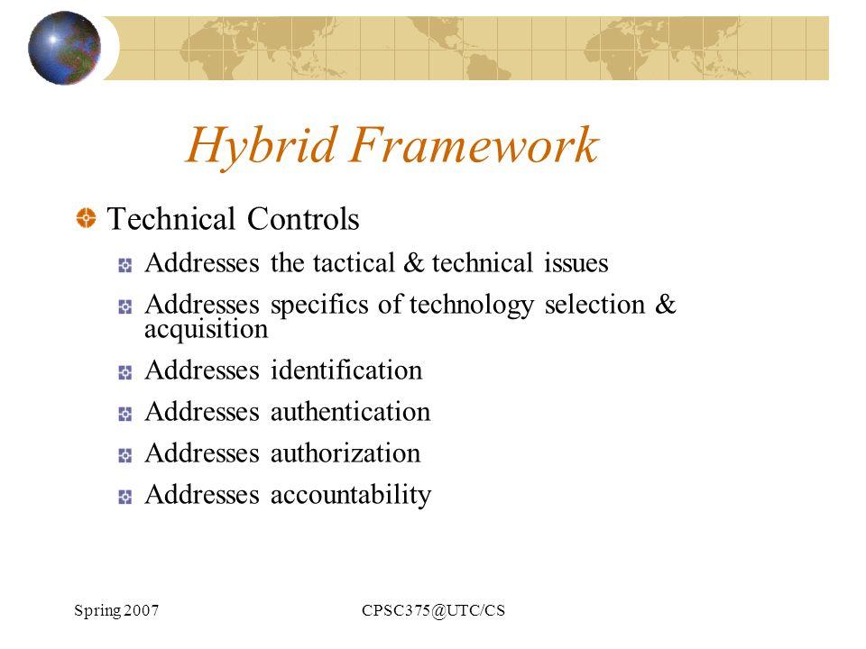 Hybrid Framework Technical Controls