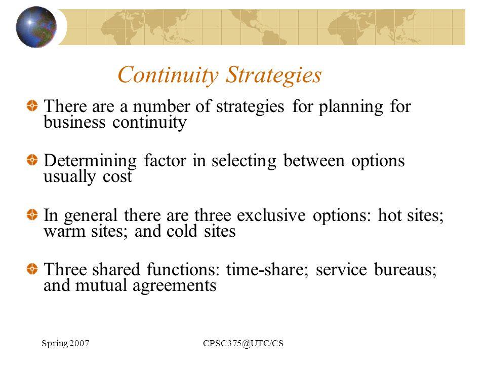 Continuity Strategies