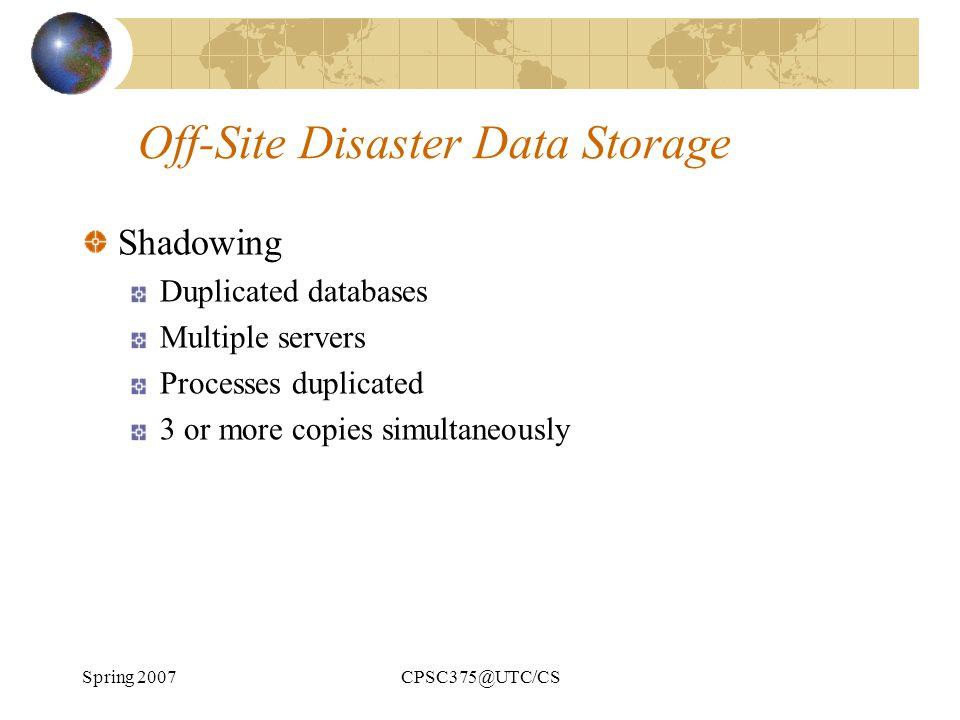Off-Site Disaster Data Storage