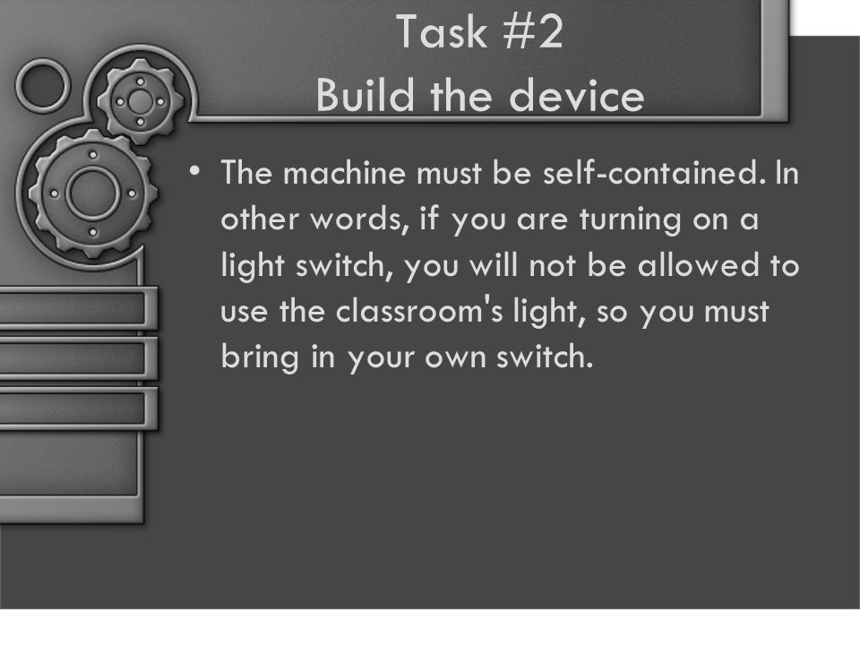 Task #2 Build the device