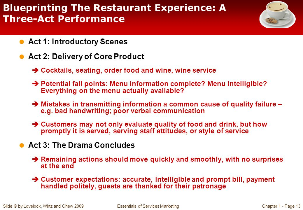 Blueprinting The Restaurant Experience: A Three-Act Performance