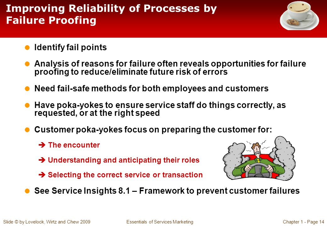 Improving Reliability of Processes by Failure Proofing