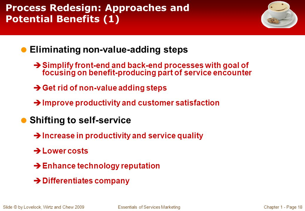 Process Redesign: Approaches and Potential Benefits (1)