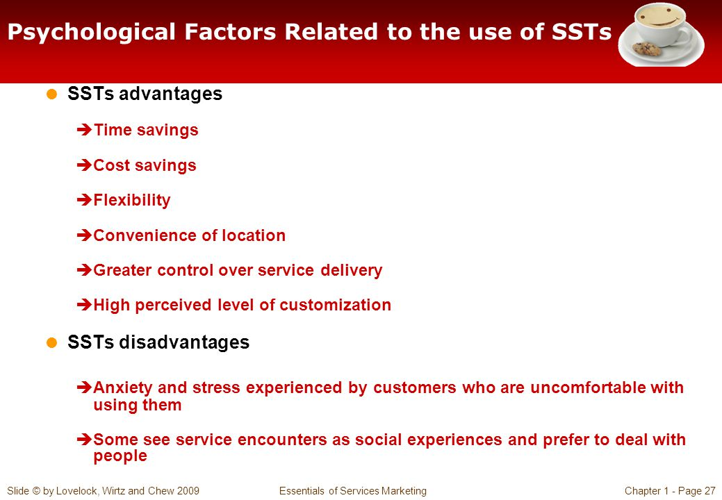 Psychological Factors Related to the use of SSTs