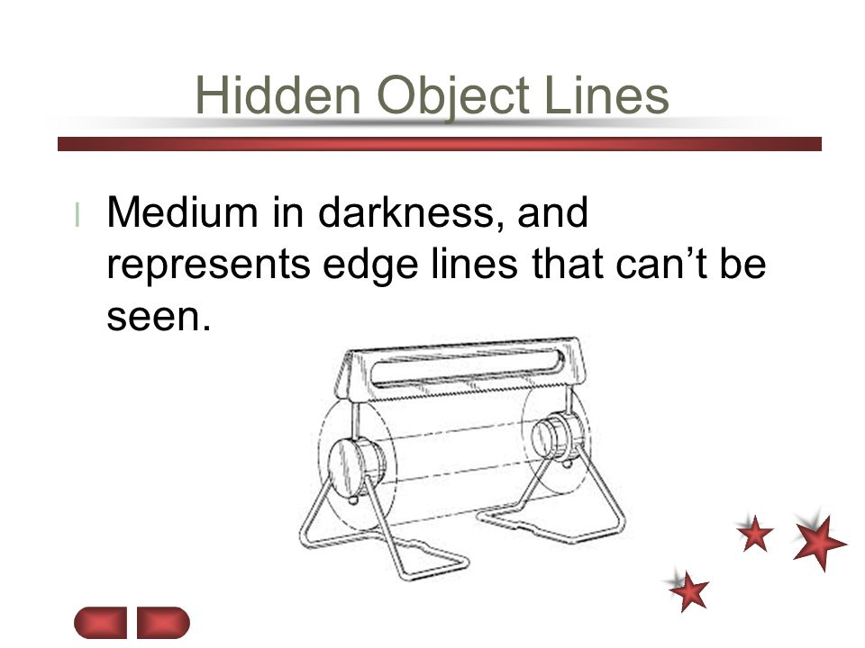 Hidden Object Lines Medium in darkness, and represents edge lines that can't be seen.