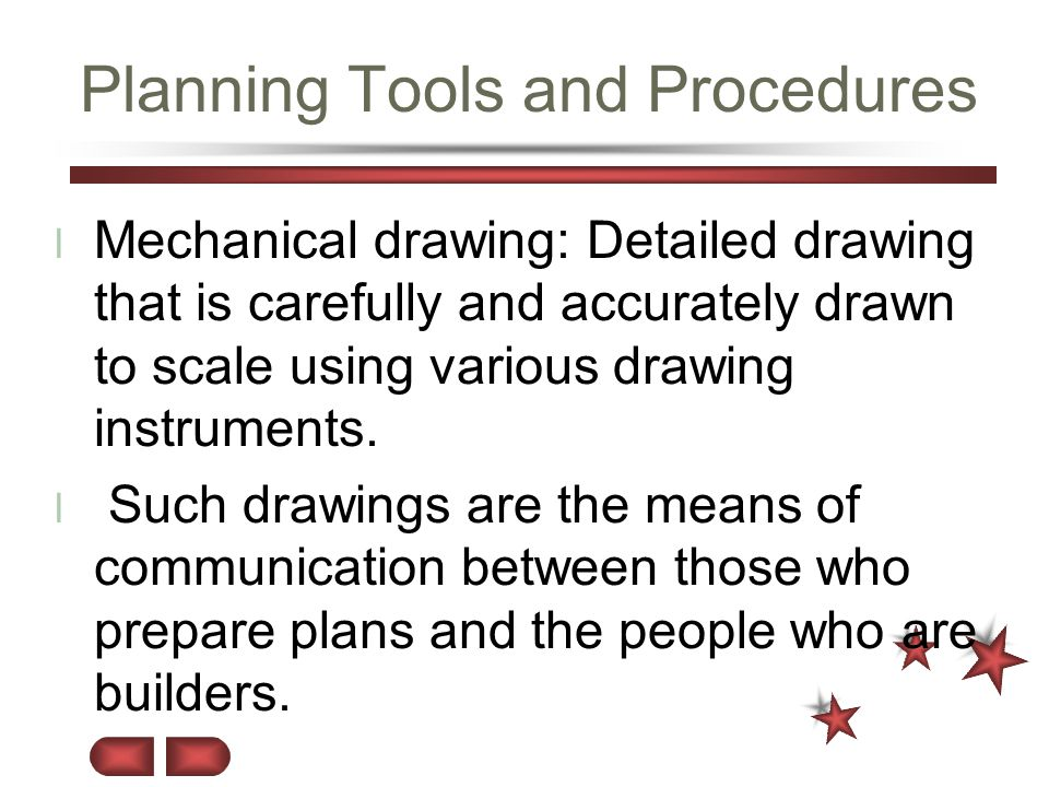 Planning Tools and Procedures