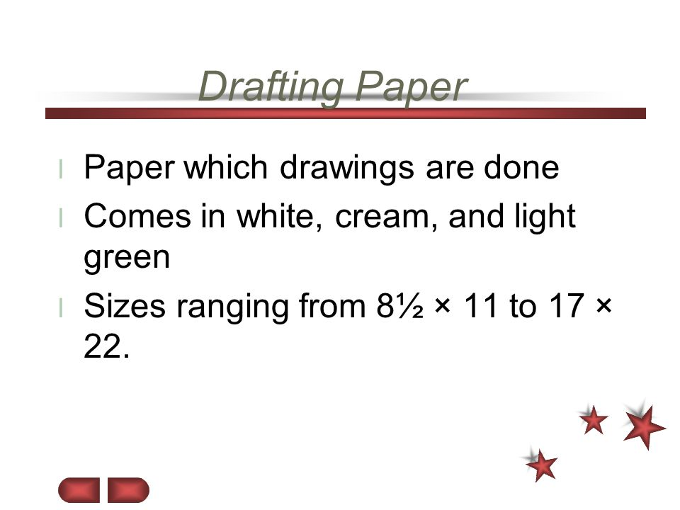 Drafting Paper Paper which drawings are done