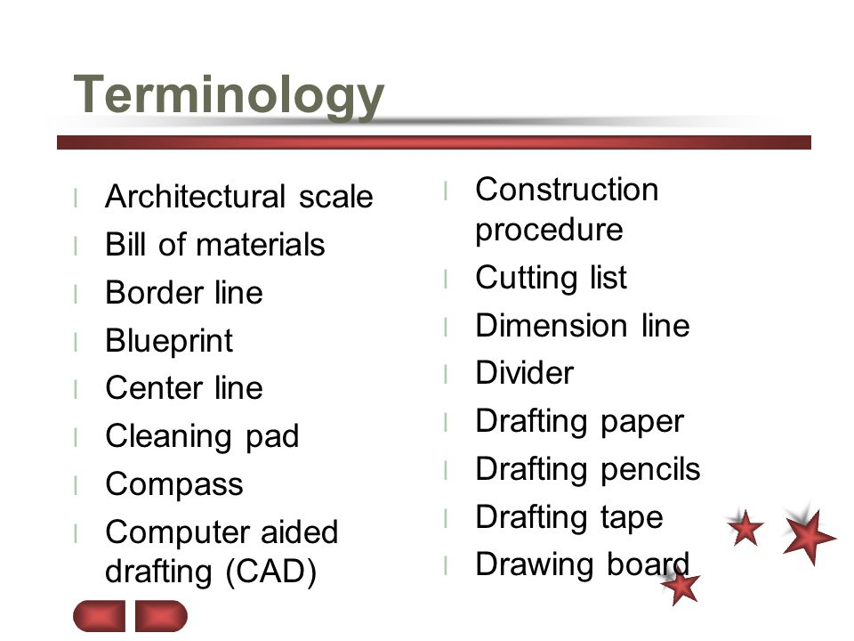 Terminology Construction procedure Architectural scale