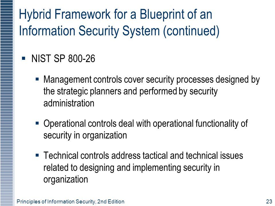 Hybrid Framework for a Blueprint of an Information Security System (continued)