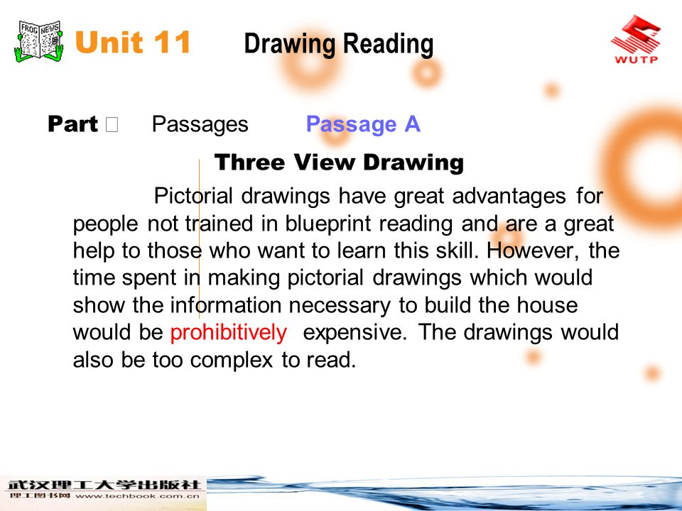 Unit 11 Drawing Reading Part Ⅱ Passages Passage A Three View Drawing