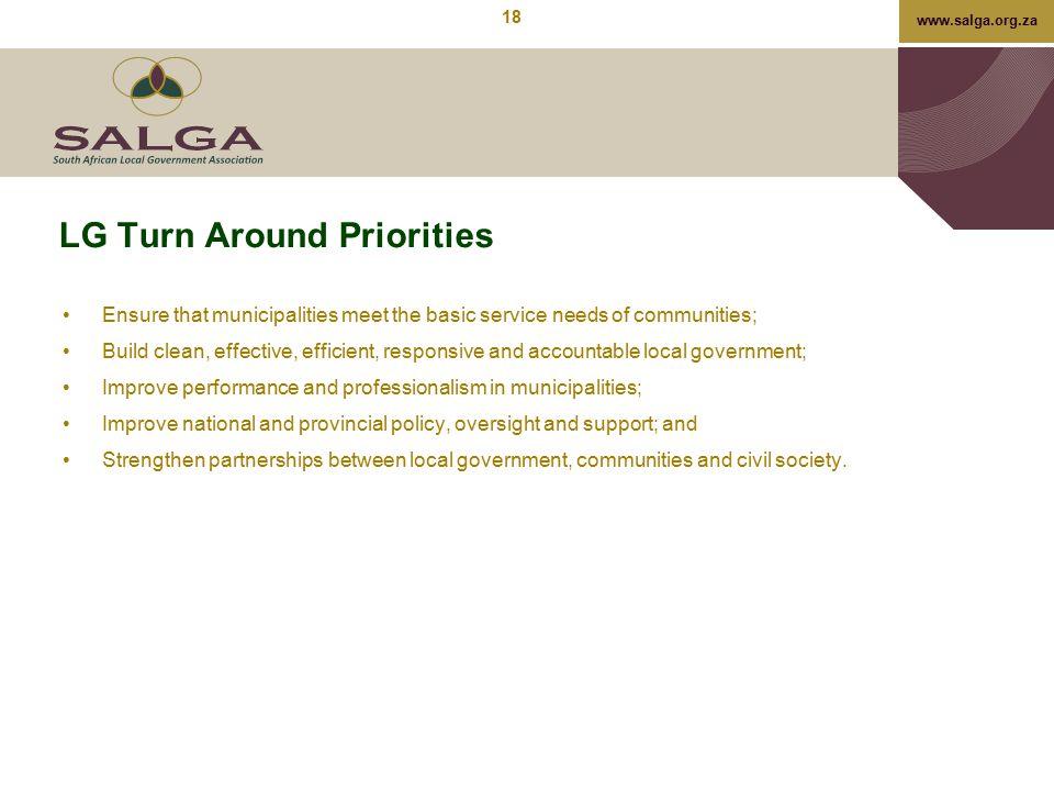 LG Turn Around Priorities