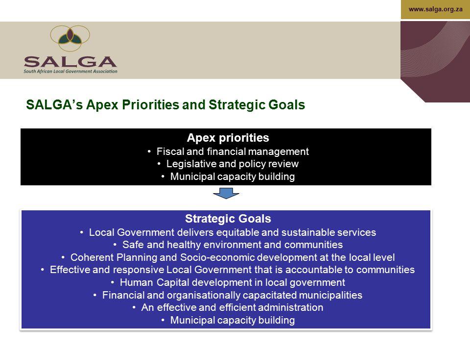 SALGA's Apex Priorities and Strategic Goals