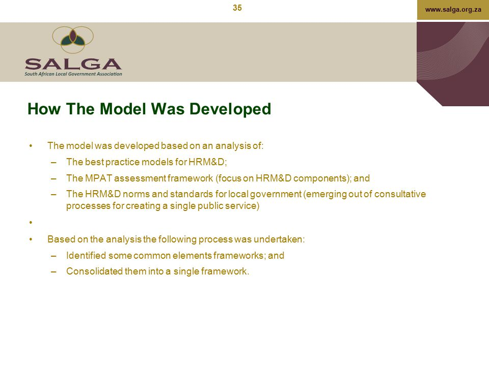 How The Model Was Developed