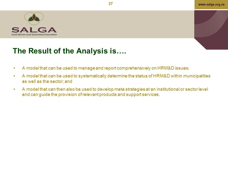 The Result of the Analysis is….
