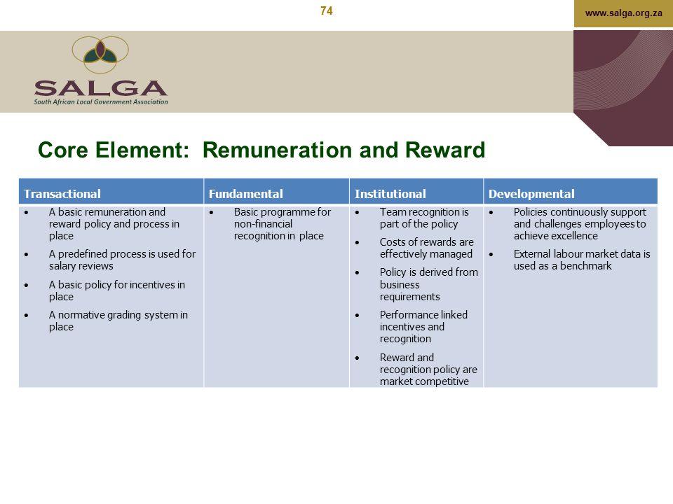 Core Element: Remuneration and Reward