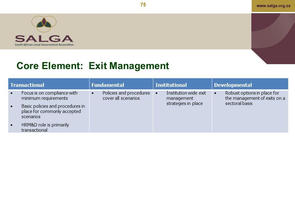 Core Element: Exit Management