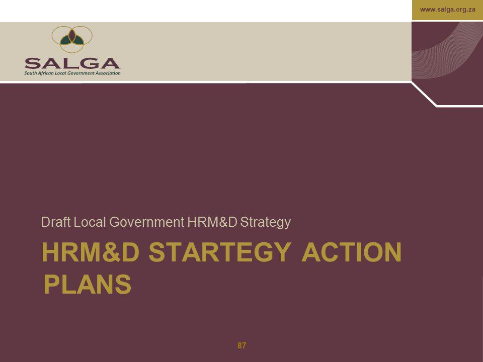 HRM&D STARTEGY ACTION PLANS