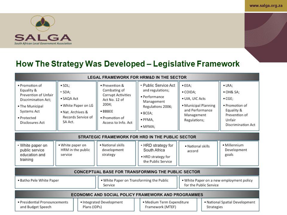 How The Strategy Was Developed – Legislative Framework