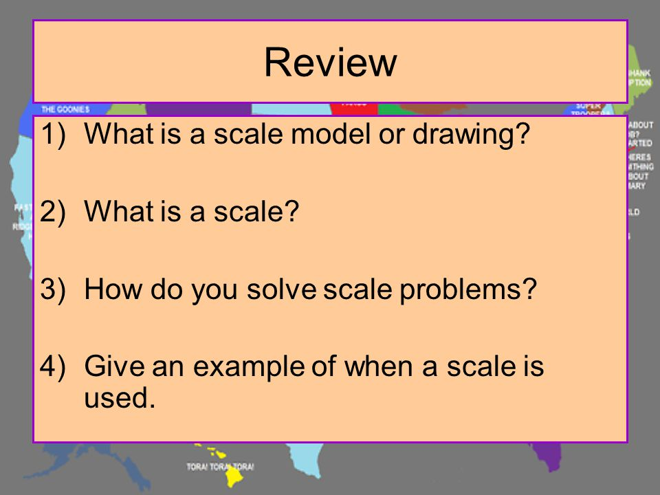 Review What is a scale model or drawing What is a scale