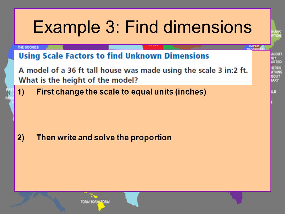 Example 3: Find dimensions