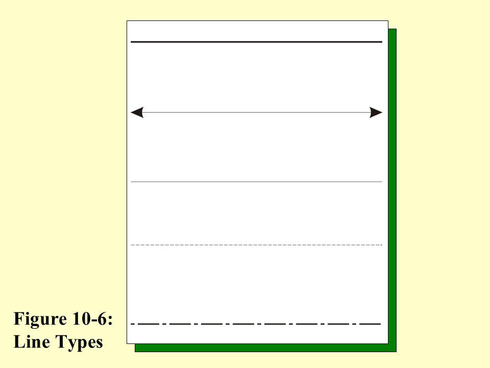 Figure 10-6: Line Types