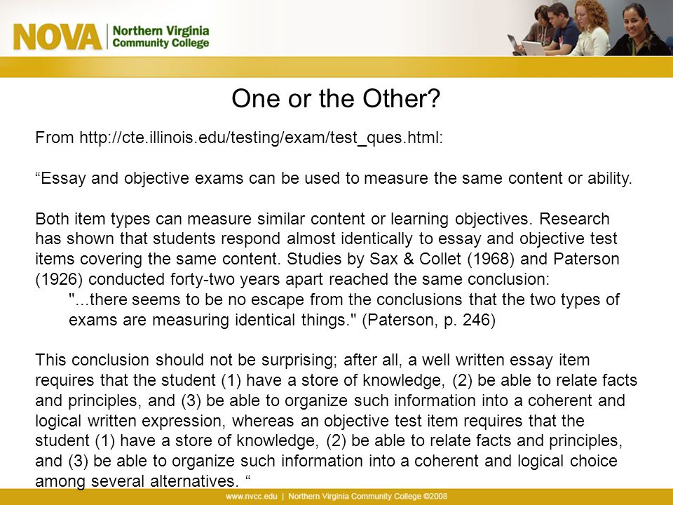 "aligning test items course learning objectives ppt video  18 one or the other from ""essay and objective"