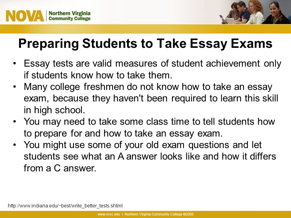 Preparing Students to Take Essay Exams
