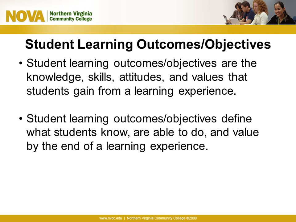 Student Learning Outcomes/Objectives