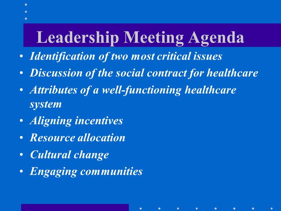 Leadership Meeting Agenda