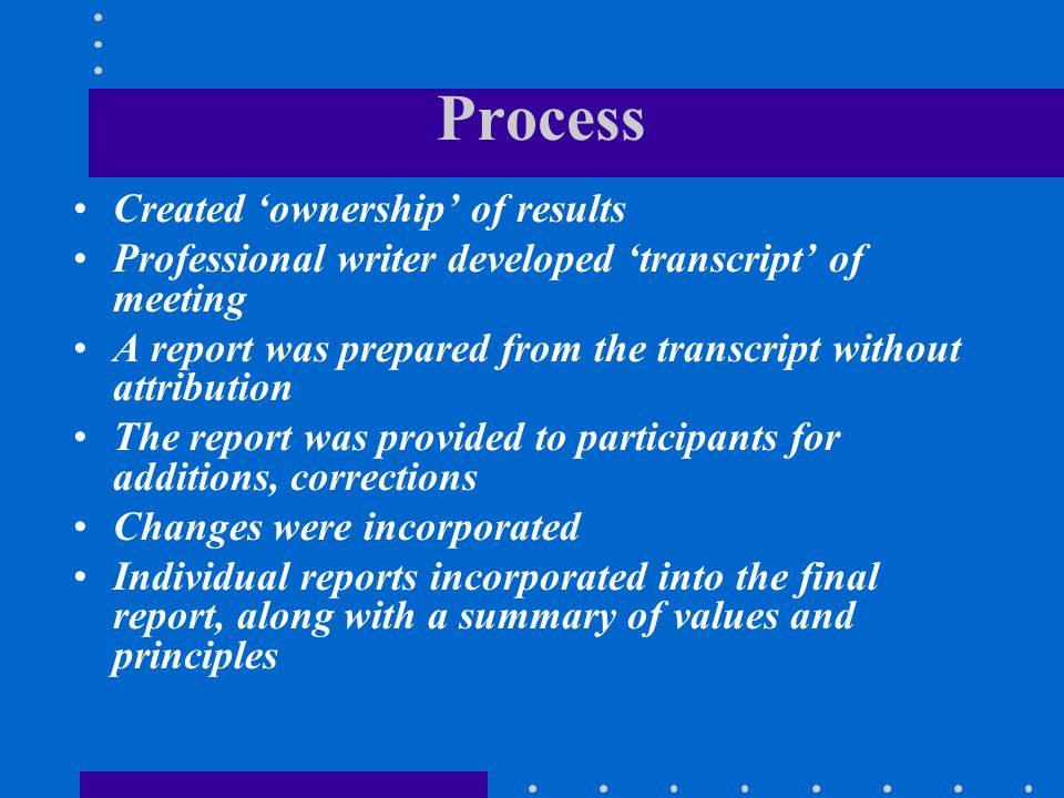 Process Created 'ownership' of results