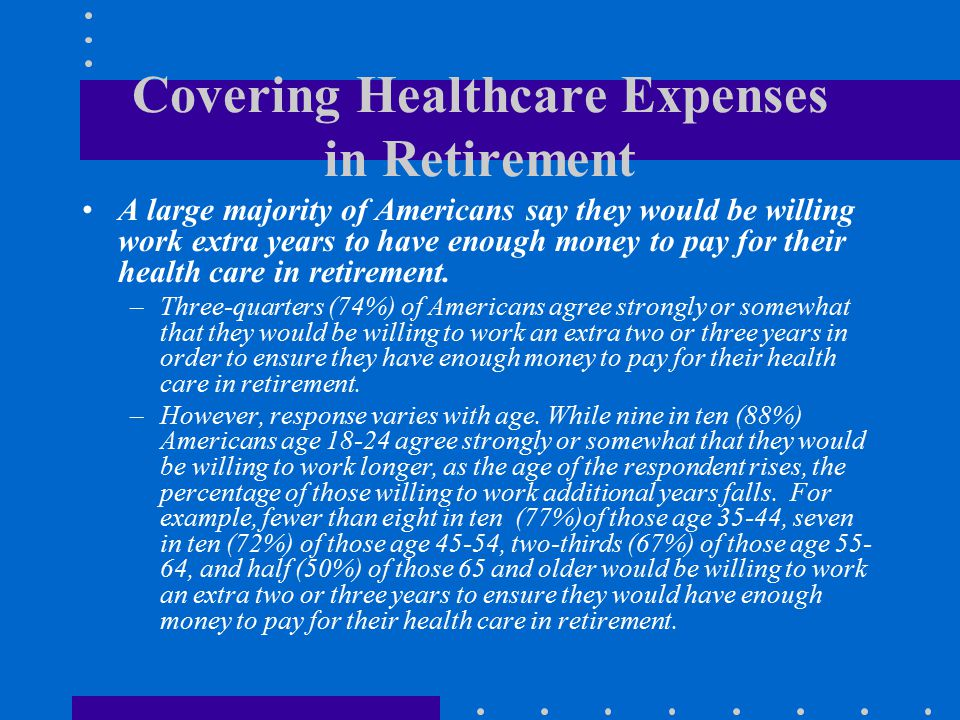 Covering Healthcare Expenses in Retirement