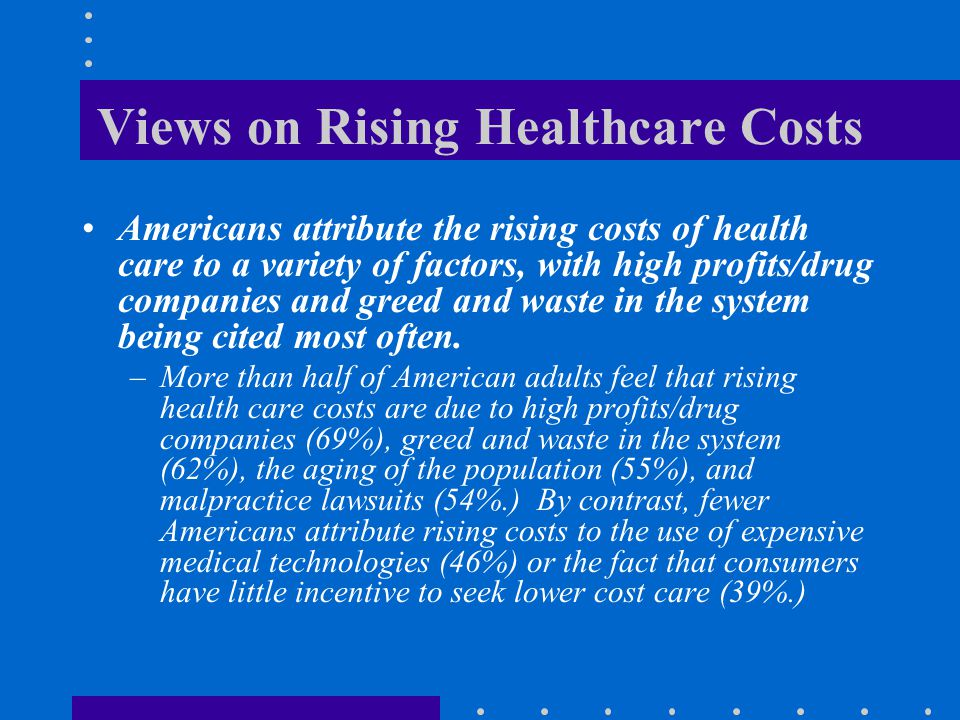 Views on Rising Healthcare Costs