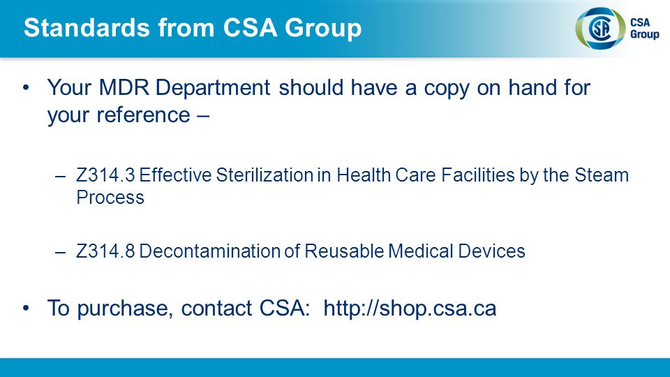Standards from CSA Group