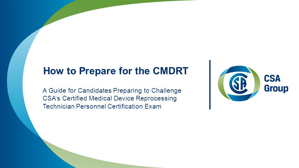 How to Prepare for the CMDRT