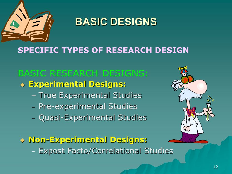 BASIC DESIGNS BASIC RESEARCH DESIGNS: