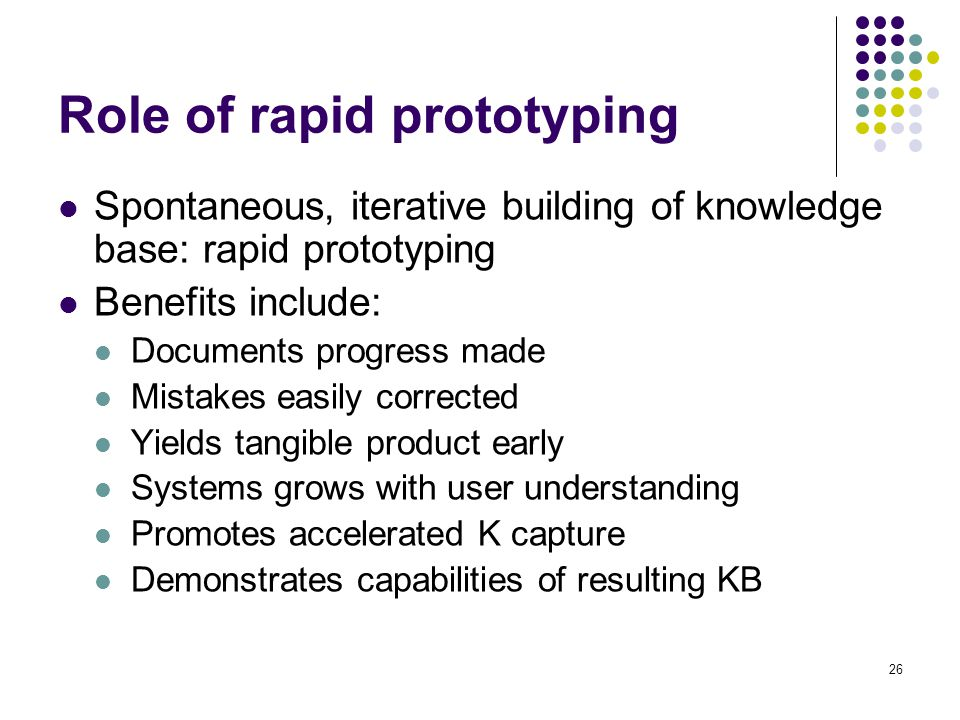 Role of rapid prototyping