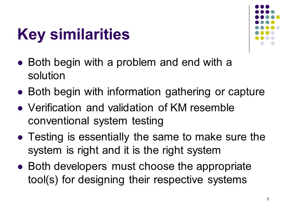 Key similarities Both begin with a problem and end with a solution