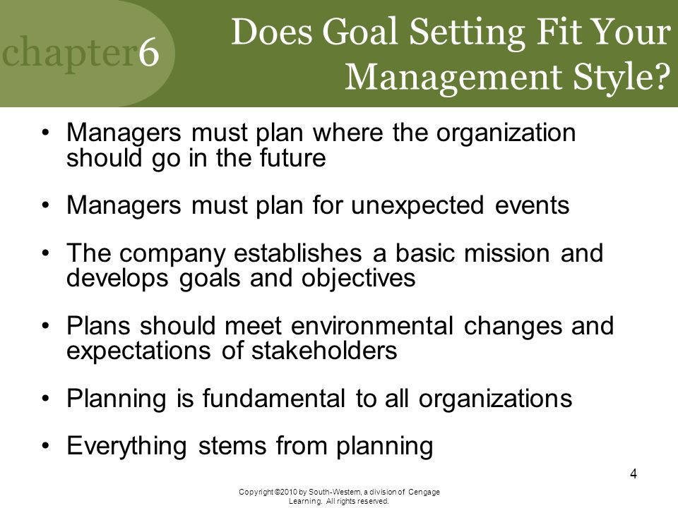 Does Goal Setting Fit Your Management Style