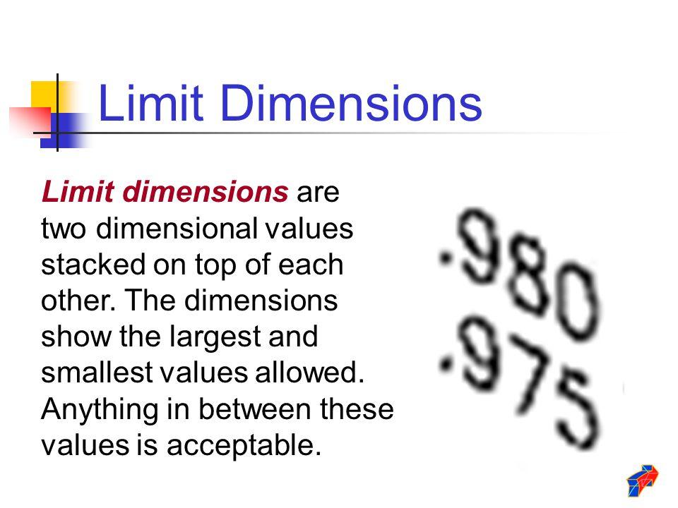 Limit Dimensions