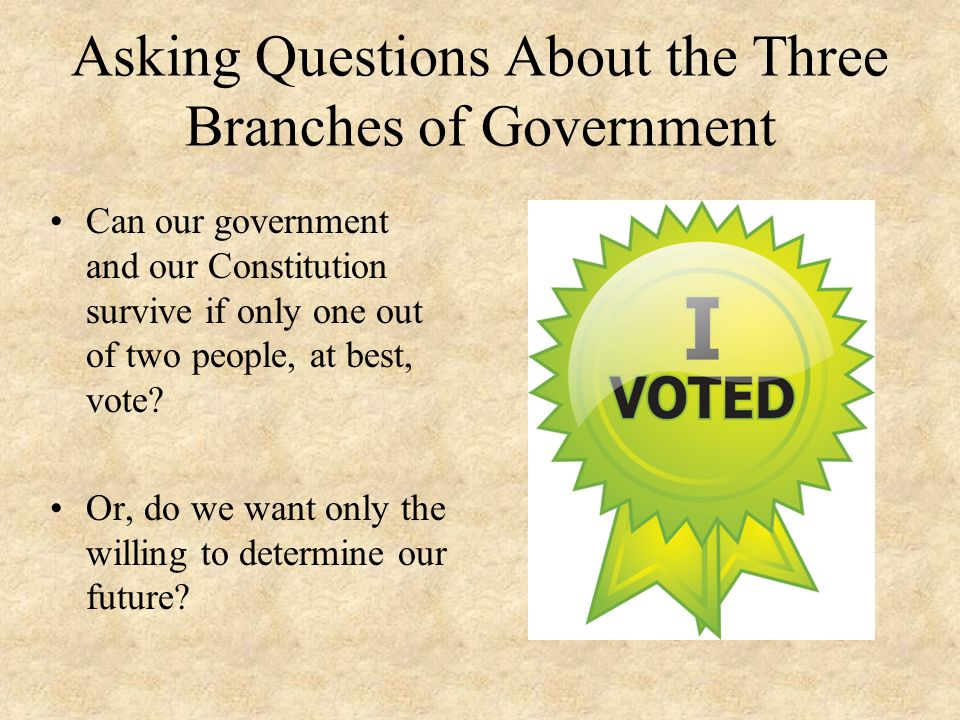 Asking Questions About the Three Branches of Government
