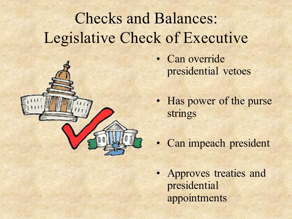 Checks and Balances: Legislative Check of Executive
