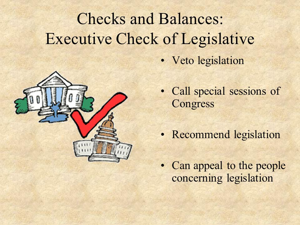 Checks and Balances: Executive Check of Legislative