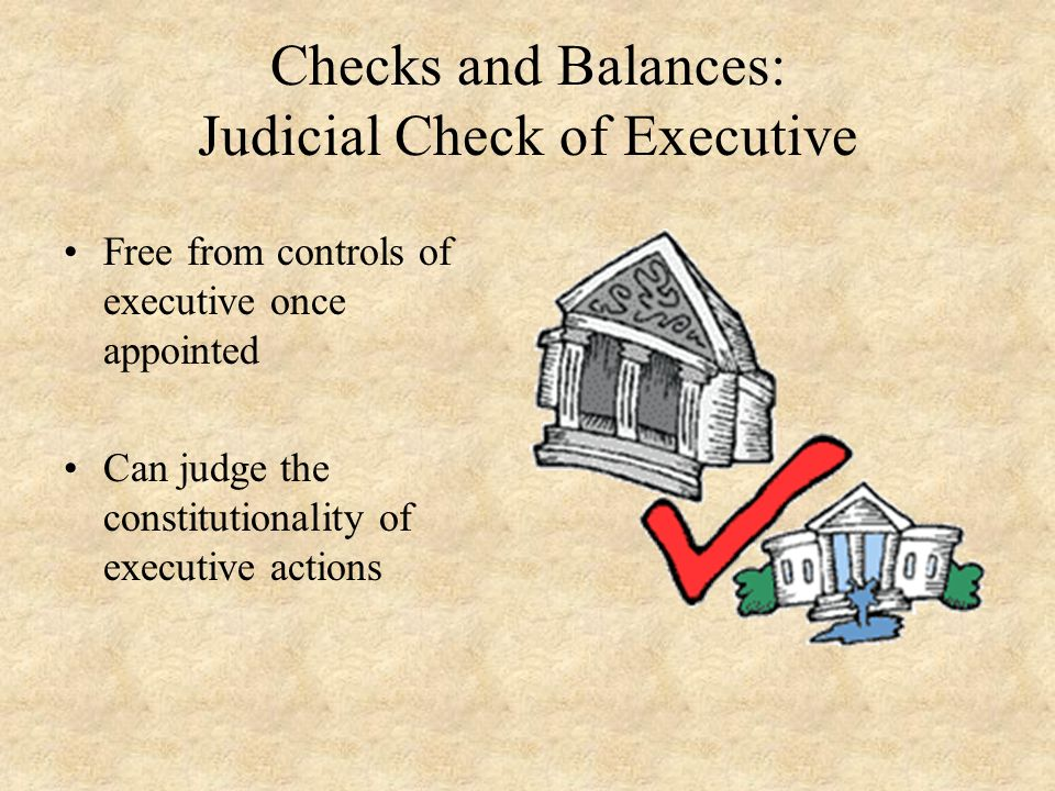 Checks and Balances: Judicial Check of Executive