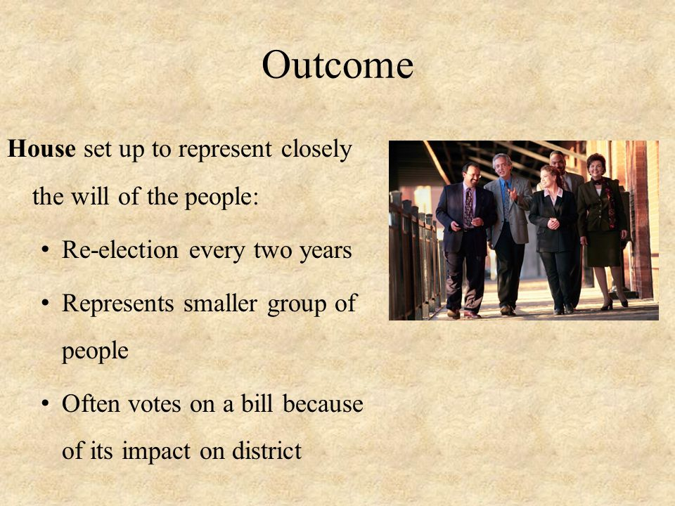 Outcome House set up to represent closely the will of the people:
