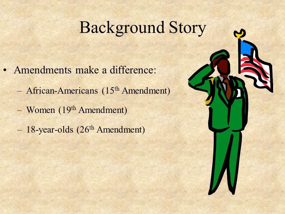 Background Story Amendments make a difference:
