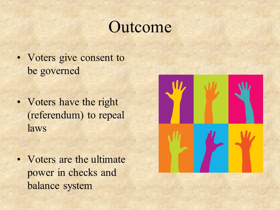 Outcome Voters give consent to be governed