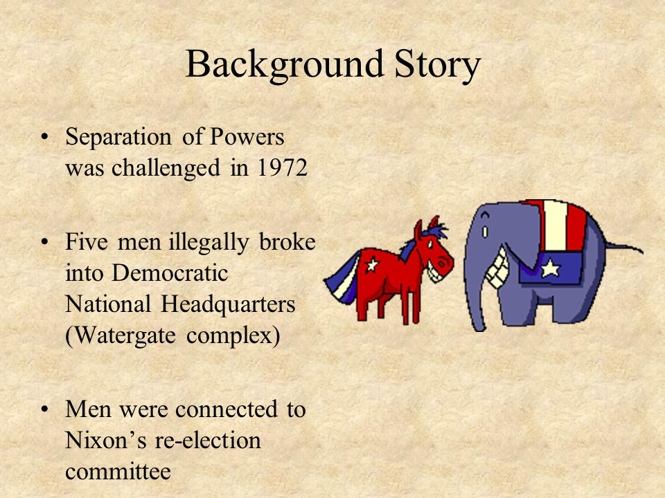 Background Story Separation of Powers was challenged in 1972