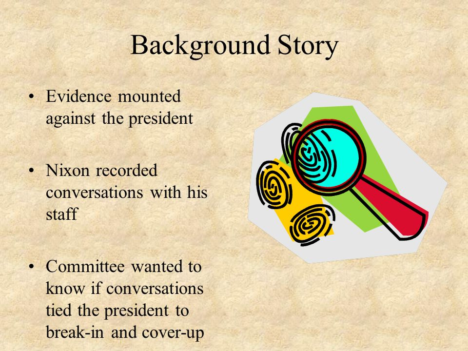 Background Story Evidence mounted against the president