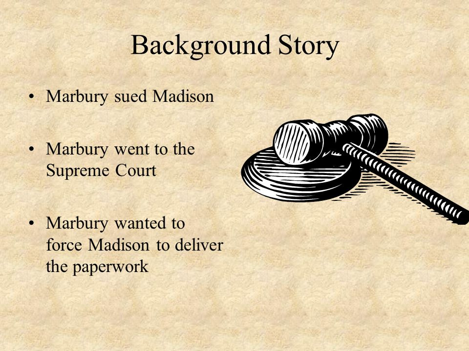 Background Story Marbury sued Madison