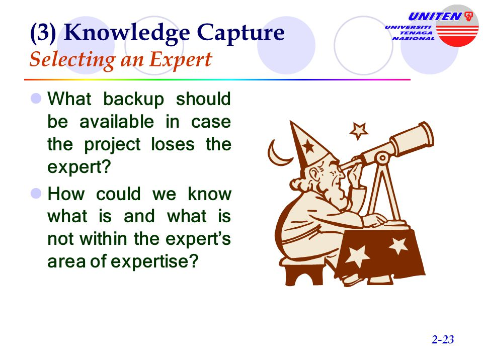 (3) Knowledge Capture Selecting an Expert